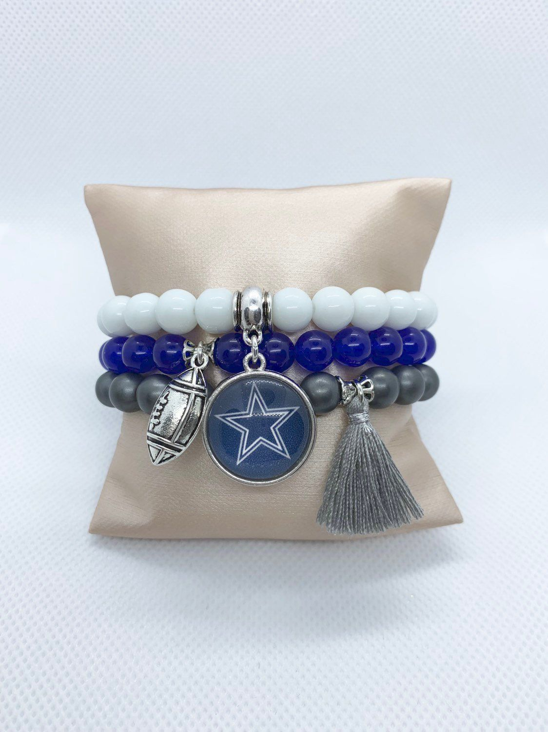 Dallas Cowboys Bracelet Stack Football Jewelry Sports