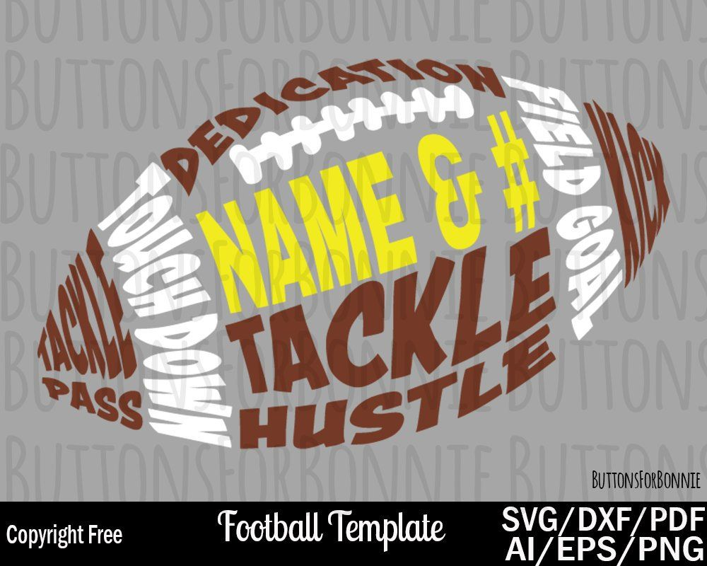 Football svg, cricut, silhouette, football template