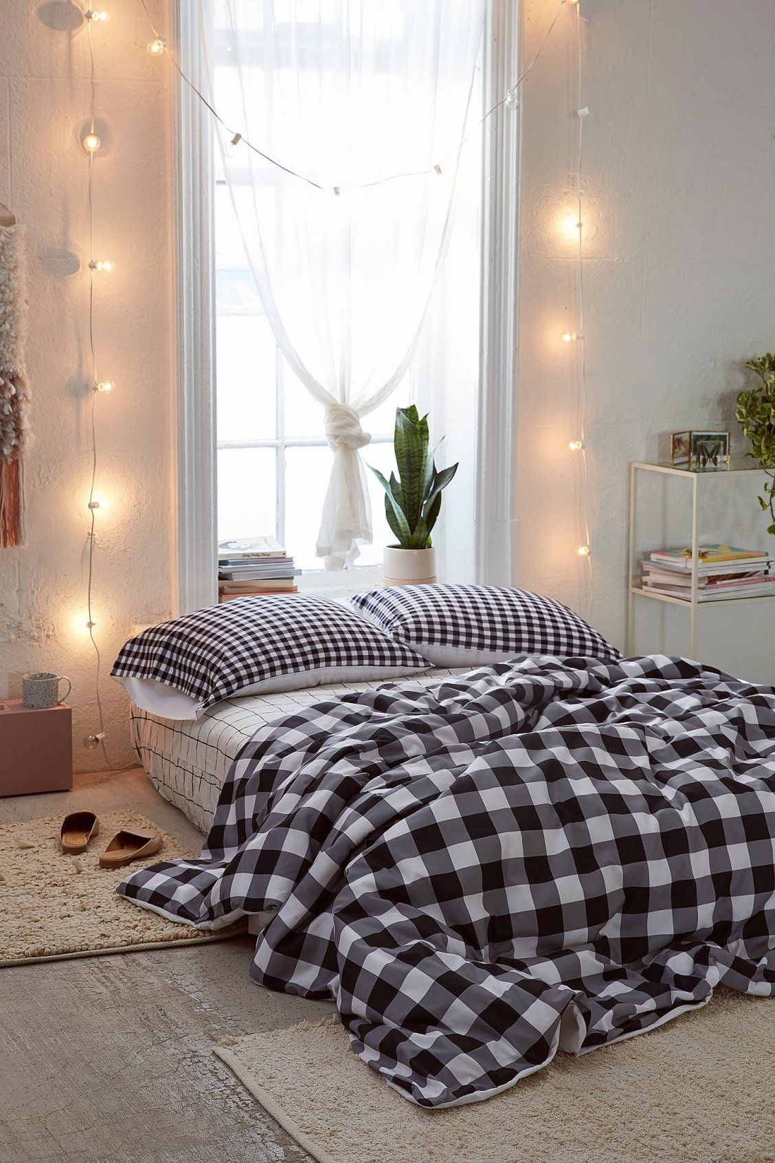 Caroline okun for deny ebony gingham duvet cover gingham urban