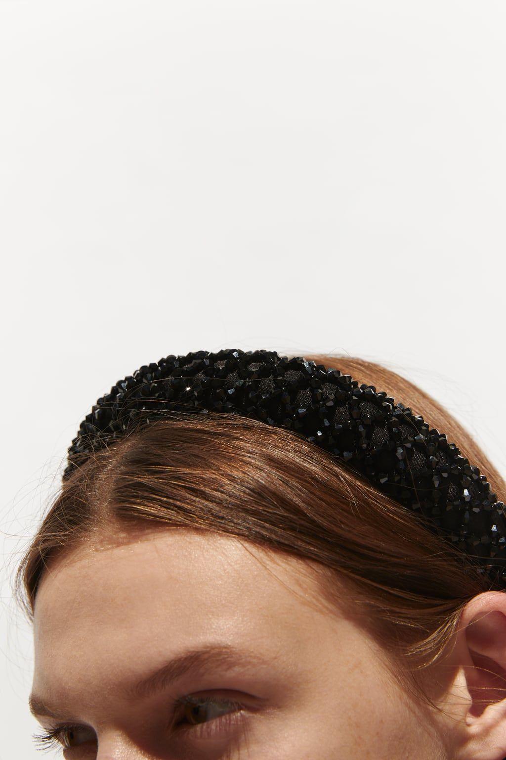 Satin Haarreif Mit Zierperlen Und Schmucksteinen Neu Damen Zara Deutschland Jeweled Headband Headband Jewelry Hair Accessories Headbands