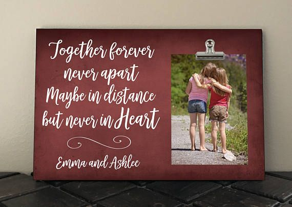 BEST FRIEND Gift, Free Personalization, Together forever Never apart Maybe in distance But never in Heart, BFF, Besties, Birthday  tf01 #childhoodfriends
