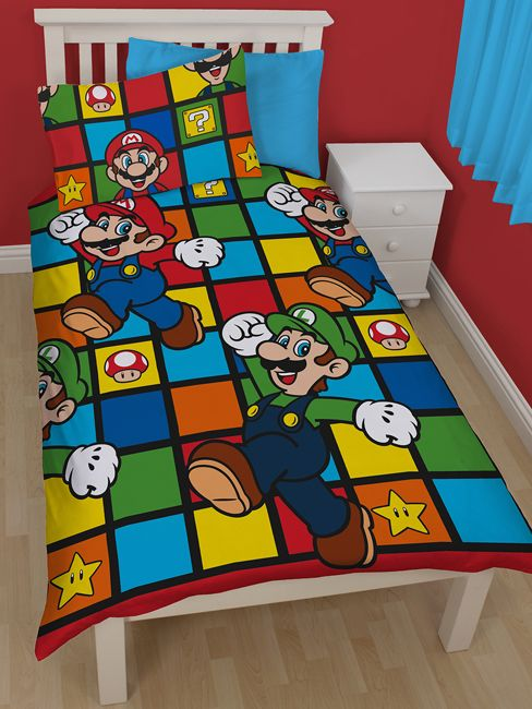 Nintendo Super Mario Retro Single Bedding Set
