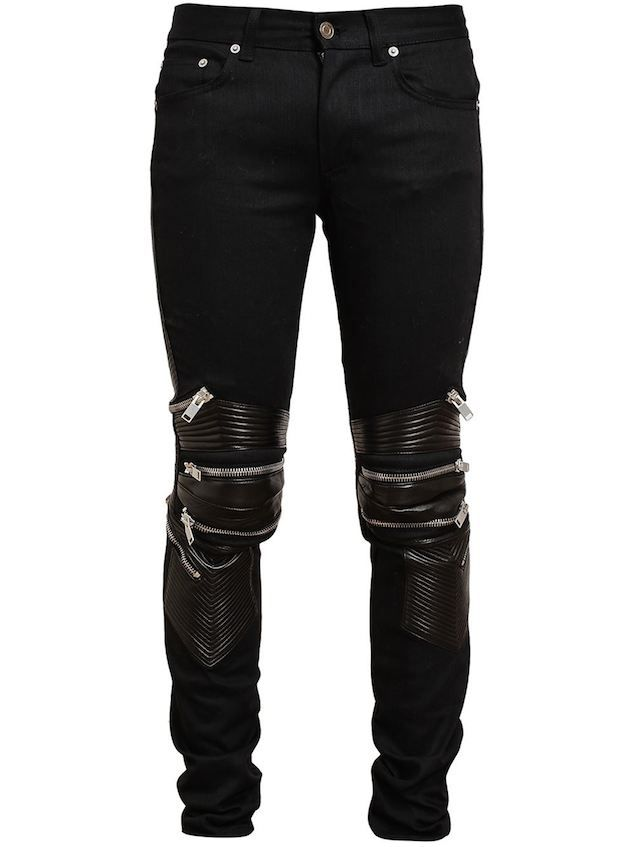 f6d915af54a Ask Allen: How Do The Saint Laurent Denim And Leather Biker Jeans With Zip  Detailing Fit? | UpscaleHype