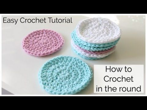 Learn How To Crochet Spiral Scrubbie Tutorial Dishcloth Washcloth