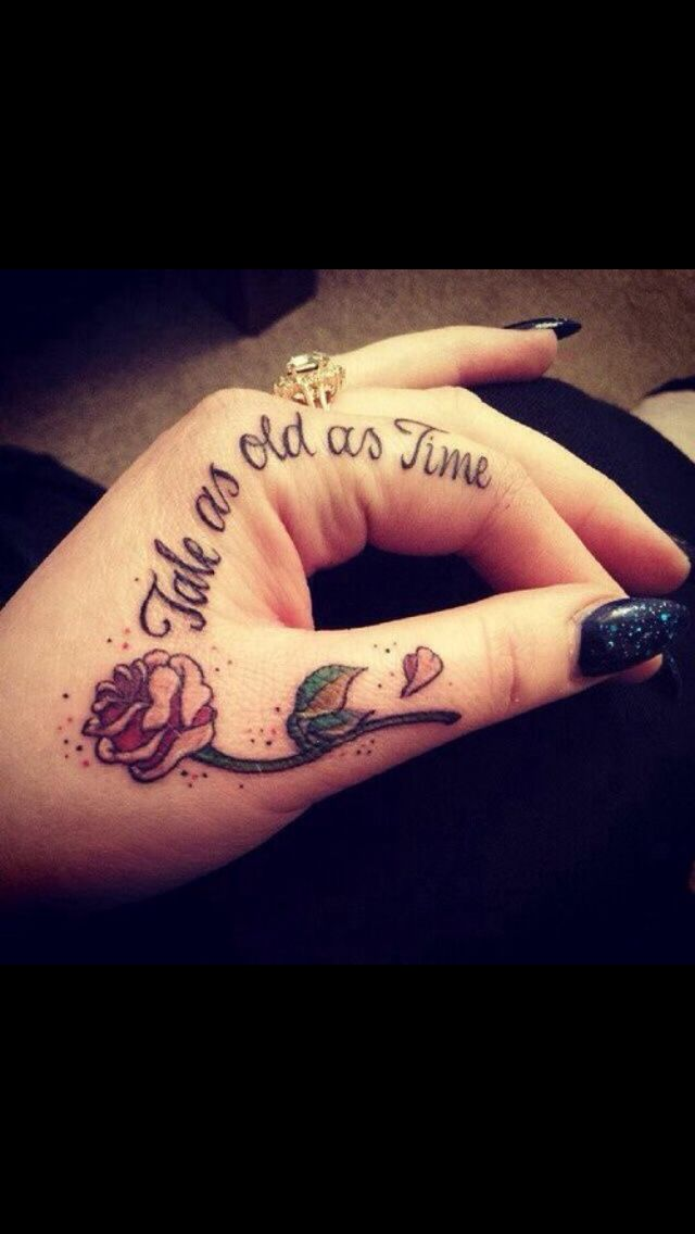 I have always wanted a beauty and the beast tattoo. I love ...