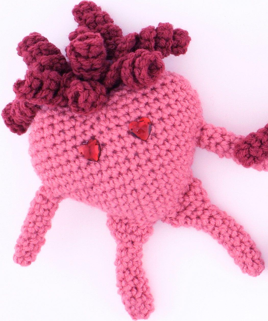Red+Heart+Crochet+Scarf+Patterns   Amigurumi Heart Crochet Pattern ...