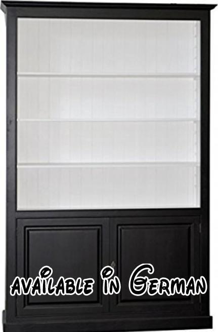 B01HW1TRLM : Casa Padrino Luxus Bücherschrank Schwarz / Weiß B 168 x ...