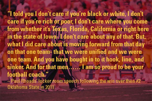 Paul Rhoads' locker room speech following the win over then #2 Oklahoma State in 2011 #CountdowntoKickoff and #CycloneFB