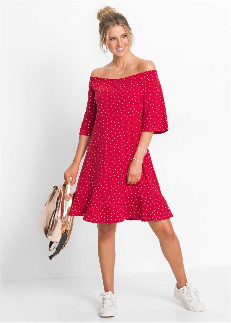 Shirtkleid mit Carmenausschnitt, RAINBOW  Kleid mit