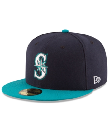 buy popular 5cbc3 ba3b9 New Era Kids  Seattle Mariners Authentic Collection 59FIFTY Cap - Blue 6 5 8