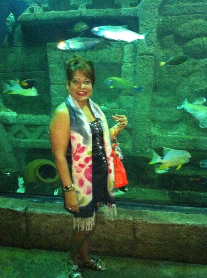 At the aquarium in Dallas Texas so  great