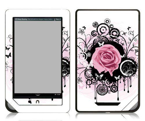 Bundle Monster Barnes Noble Nook Color Nook Tablet Ebook Vinyl Skin Cover Art Decal Sticker Accessories Couture Rose Fits Both Noo Nook Tablet Tablet Case