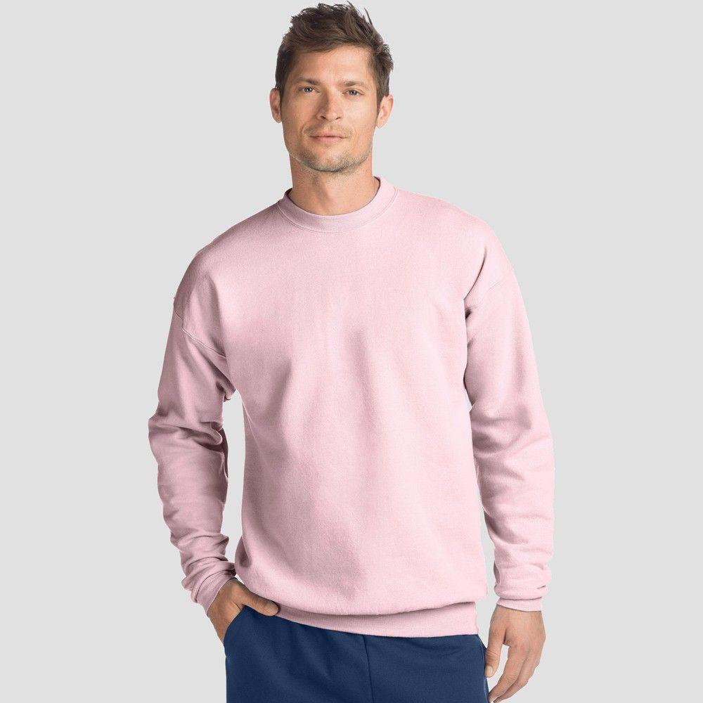 Hanes Men S Big Tall Ecosmart Fleece Crew Neck Sweatshirt Pale Pink 5xl In 2021 Crew Neck Sweater Men Crew Neck Sweatshirt Long Sleeve Tshirt Men [ 1000 x 1000 Pixel ]