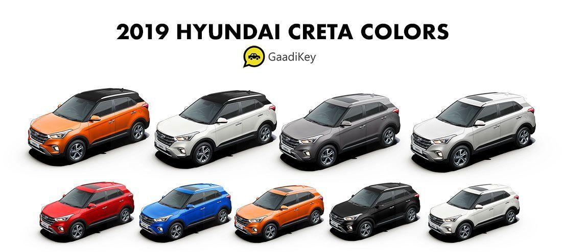 Hyundai Creta 2020 All Colours