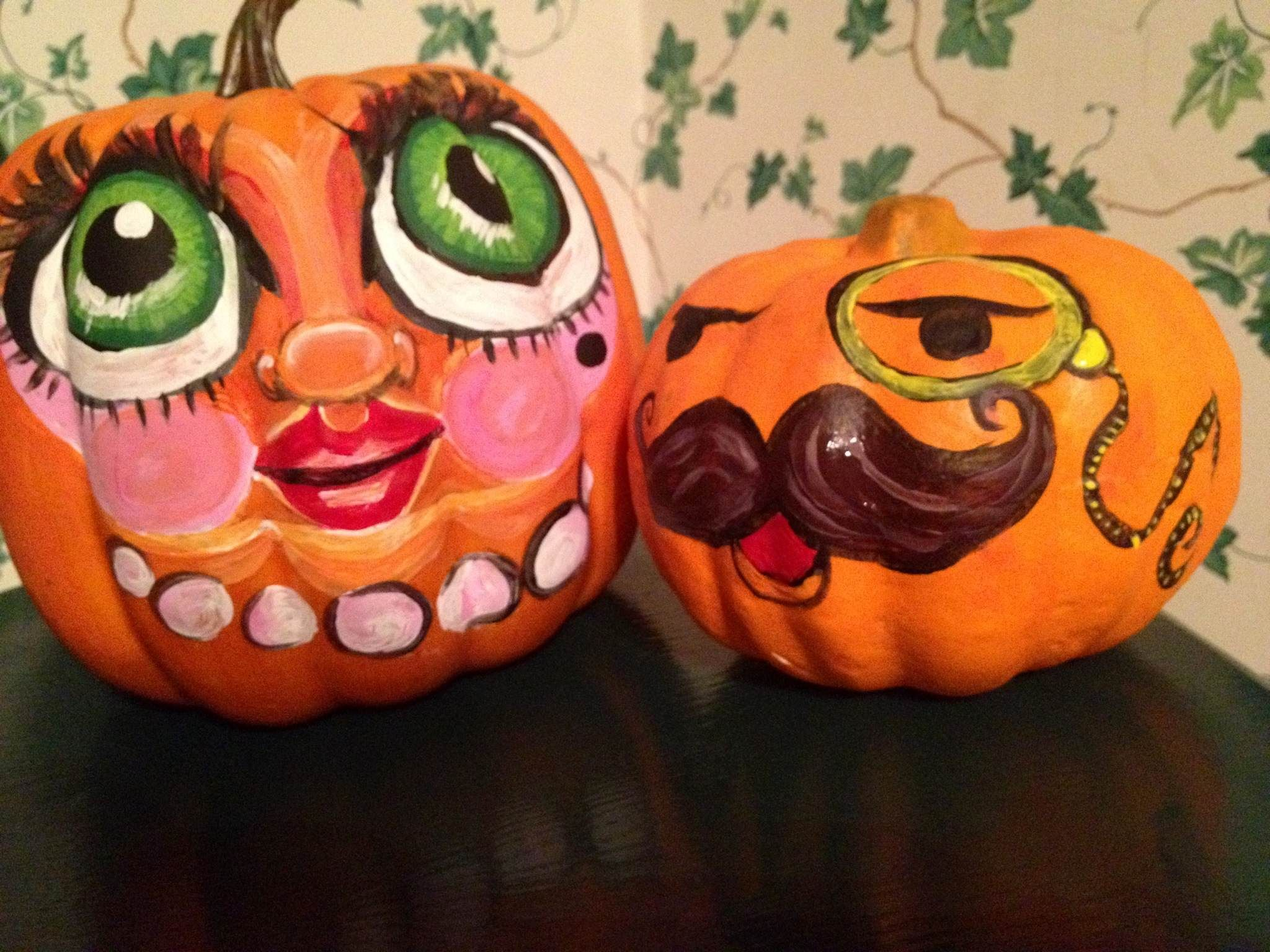 Painting Pumpkin Faces Halloween Pinterest Painting