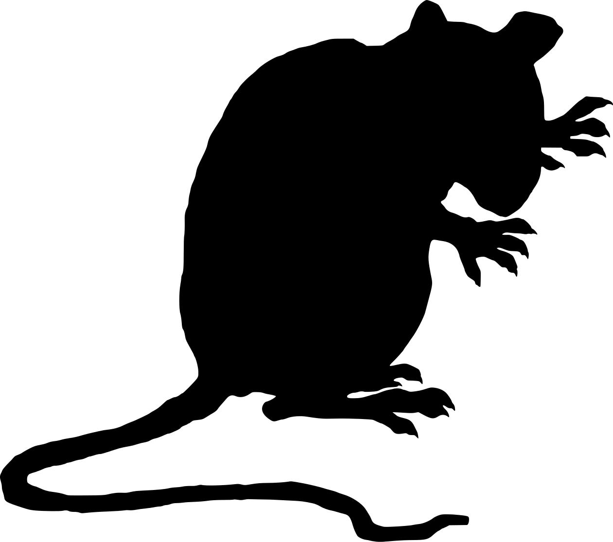 Rat Silhouette Clipart Best Rat Silhouette Animal Clipart Pet Rats