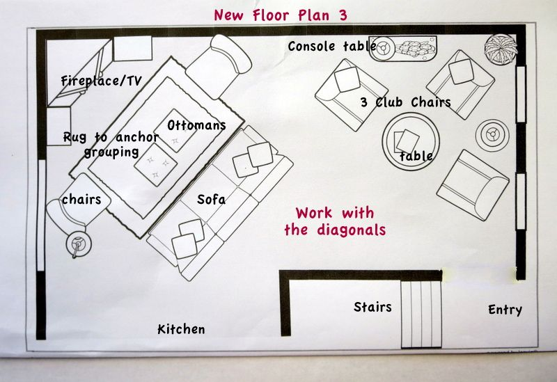 Ask The Blogger How Do You Give Difficult Rooms A Spacious Plan Layouts Room And Living Rooms