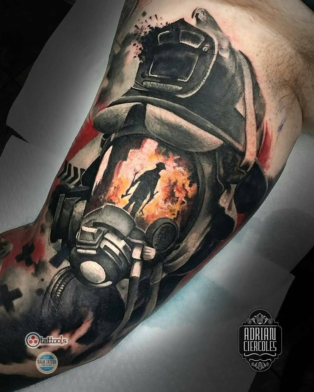 "73a5a088e Tattoo Snob on Instagram: ""Firefighter tattoo by @adriancier, who is  currently on"