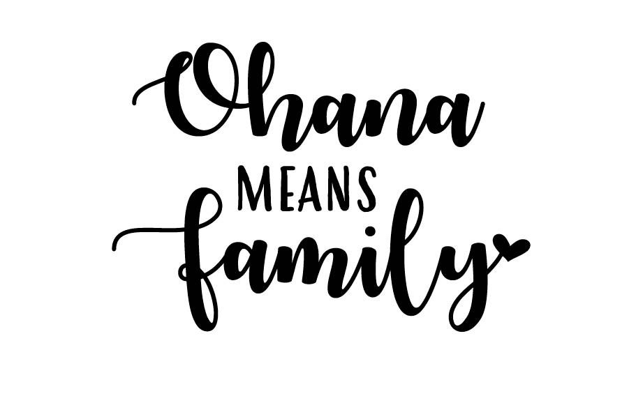 Ohana Means Family SVG Cut File Family Digital file Svg Dxf | Etsy