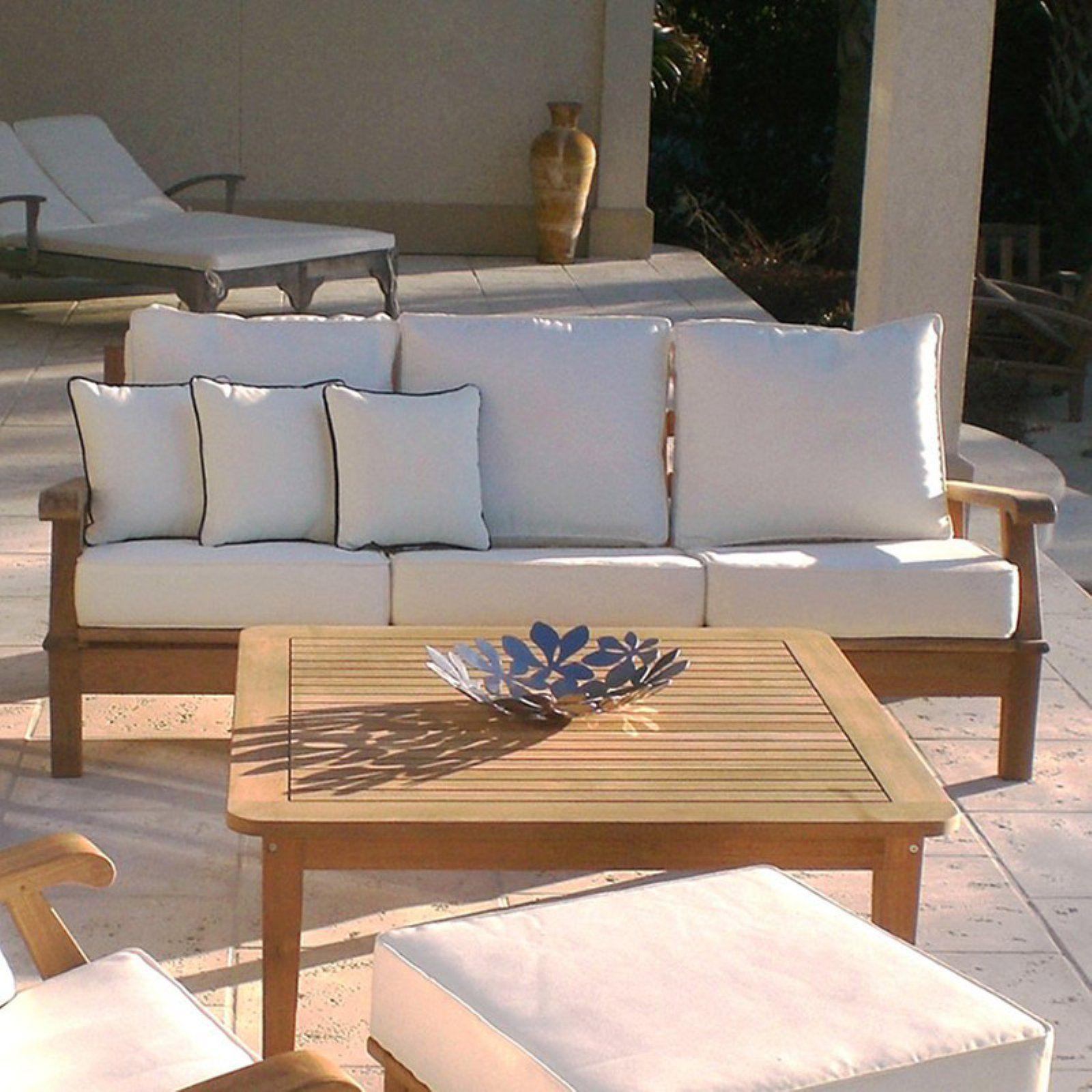 Royal Teak Miami Reclining Outdoor Sofa   Teak patio ...