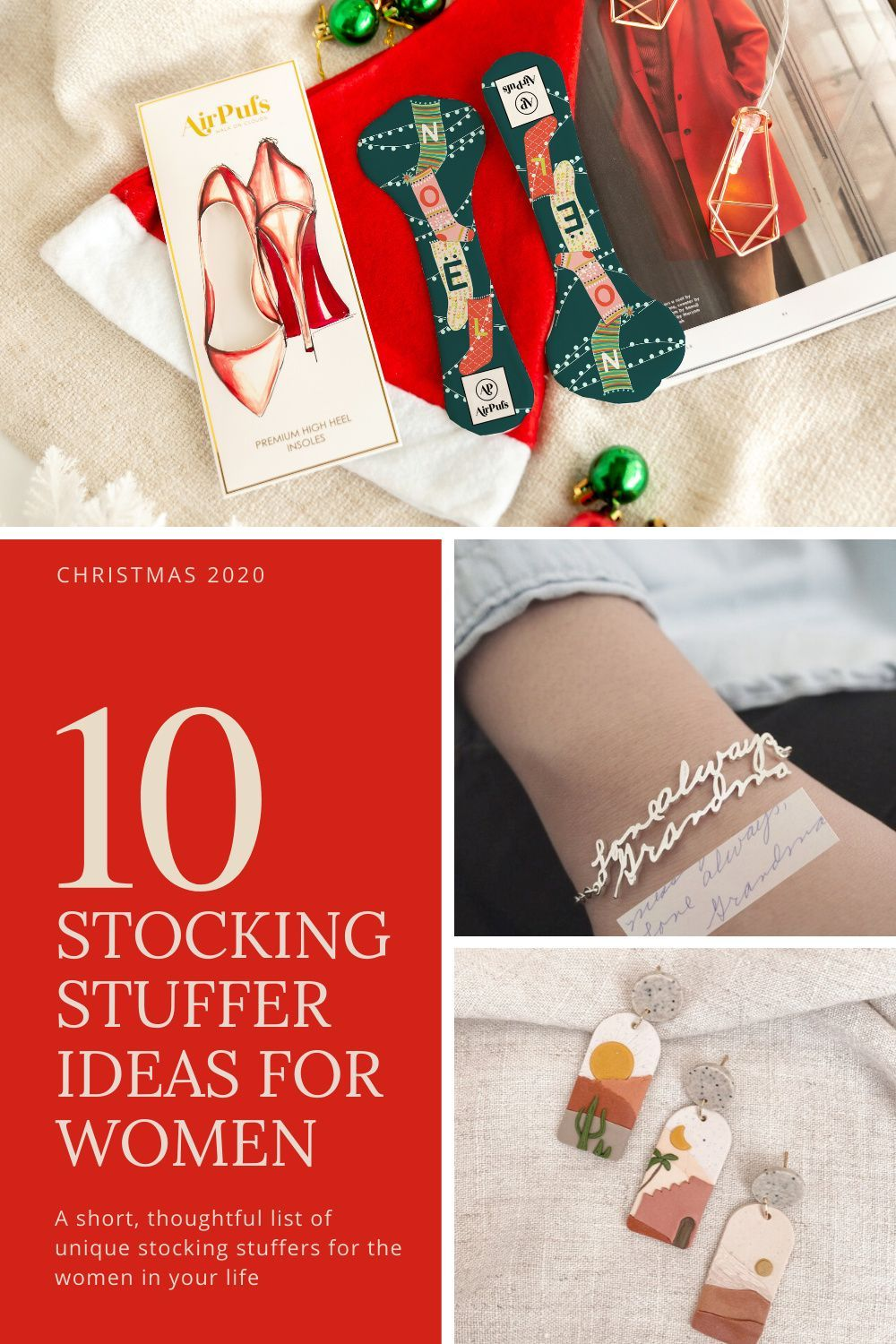 Tis the season for holiday shopping! Want to fill your stockings with thoughtful, unique gifts that will be loved and used all year? Look no further than our short guide. Curated from small businesses and makers #Etsymakers #christmasgiftideas #stockingstuffersforwomen #stockingstuffersforwife #stockingstufferideas #uniquestockingstuffers