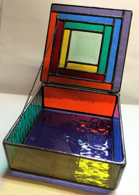 c33b0181738d Contemporary Stained Glass Jewelry Box Colorful by PeaceLuvGlass (change  with…