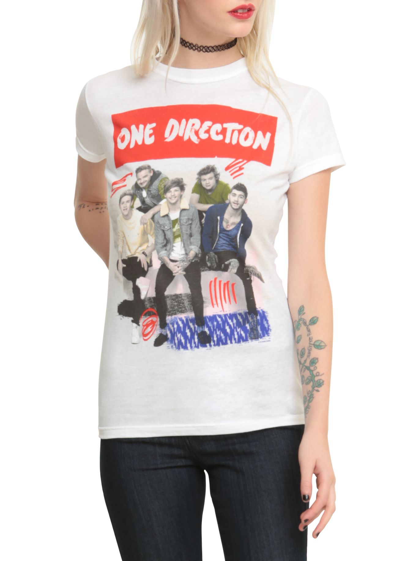 Design t shirt one direction - One Direction Scribbles Girls T Shirt
