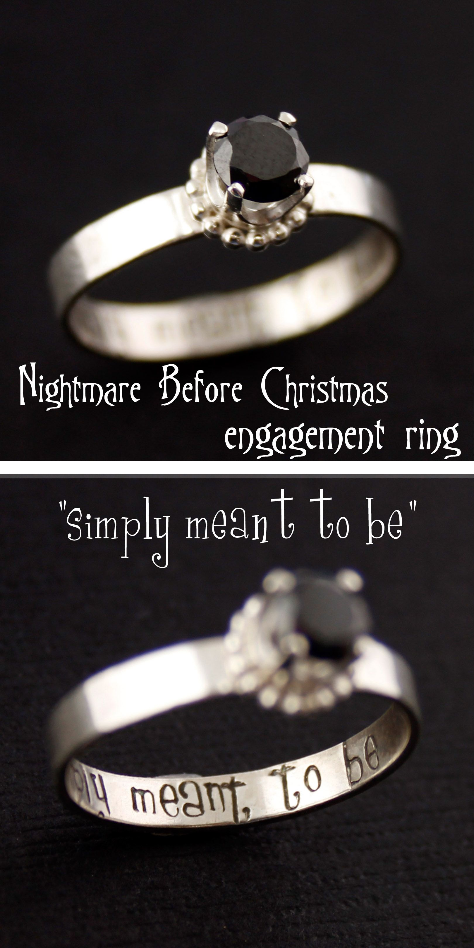 Nightmare Before Christmas Engagement Ring | Christmas engagement ...