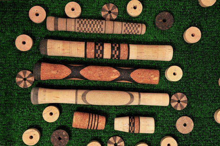 Picture fishing rod building pinterest building for Cork fishing rod handles