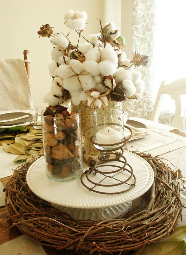 Decorating with cotton thanksgiving table settings pine