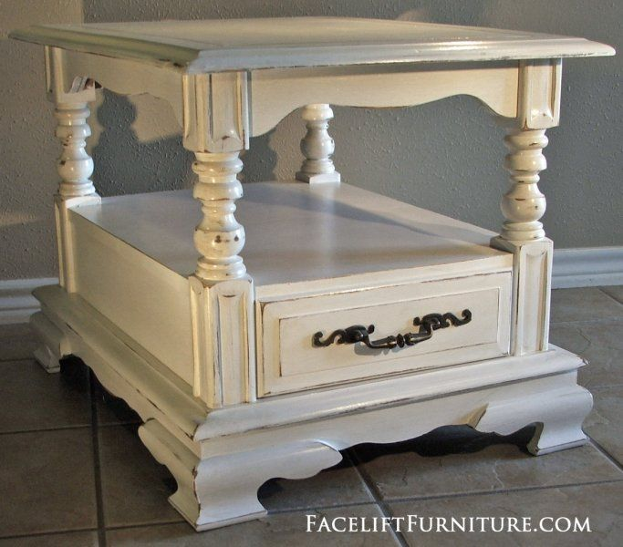 End Tables Painted Glazed Distressed Refinished furniture