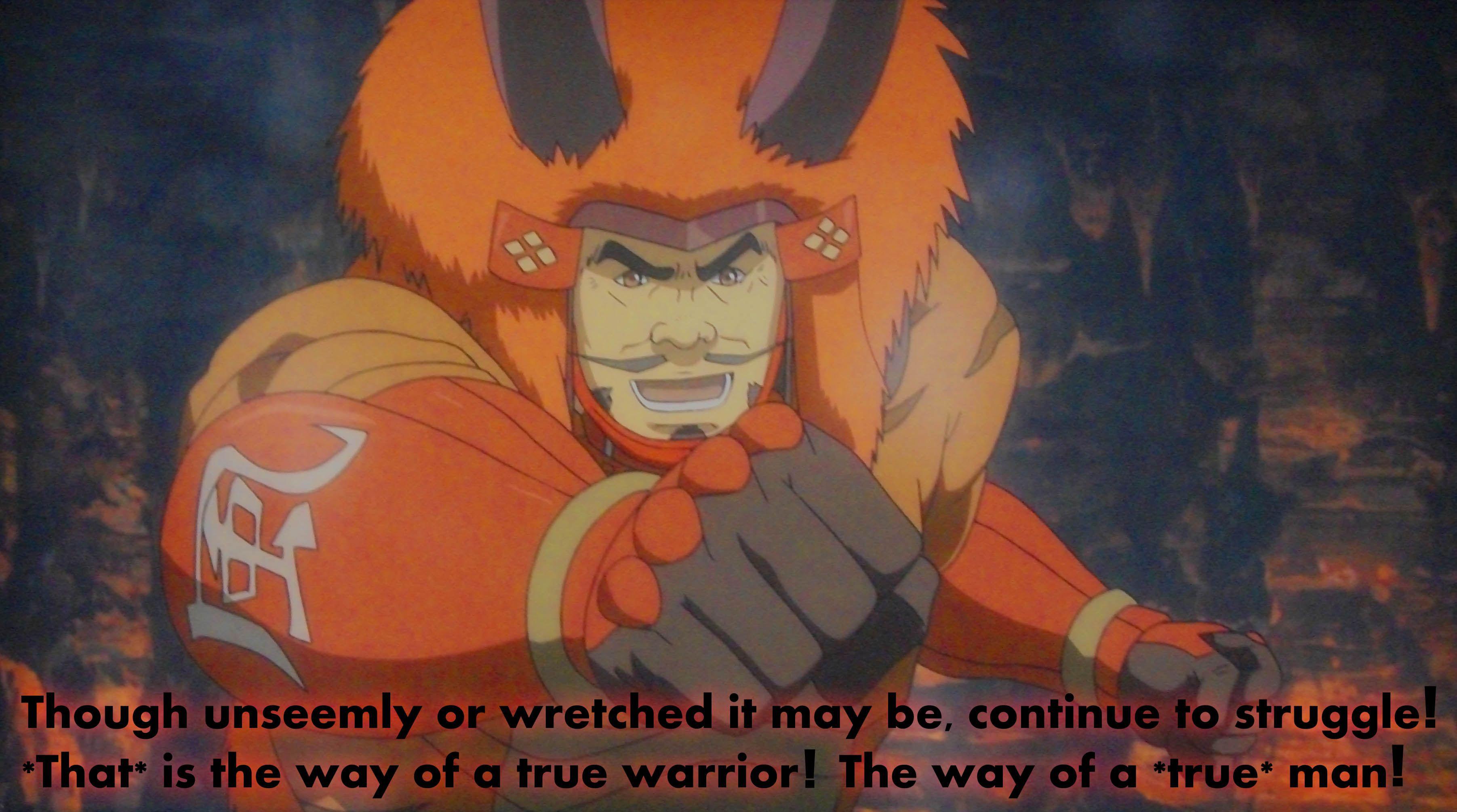Takeda Shingen quote to Sanada Yukimura. SengokuBasara