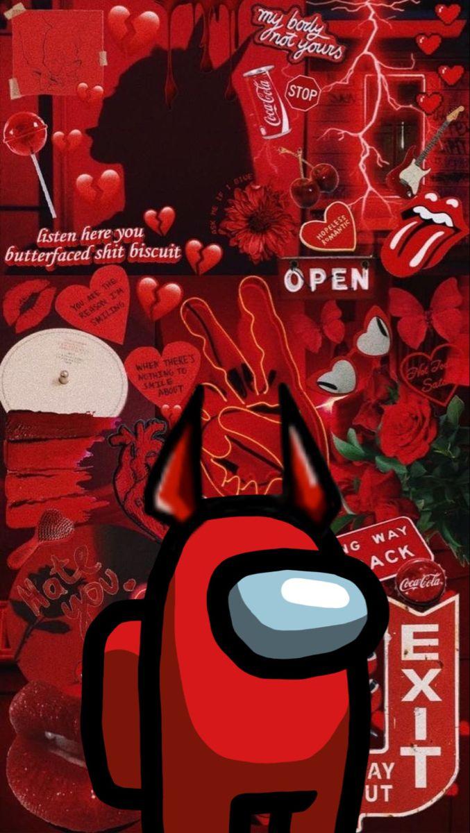 Among Us Iphone Wallpaper Tumblr Aesthetic Iphone Wallpaper Iphone Wallpaper Pattern
