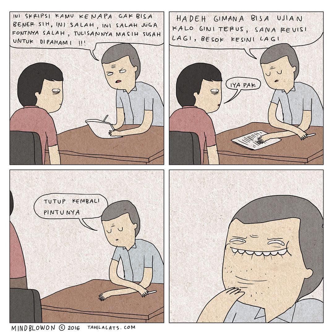 Komik Tahilalats Skripsi Komik lucu, Komik, Lucu