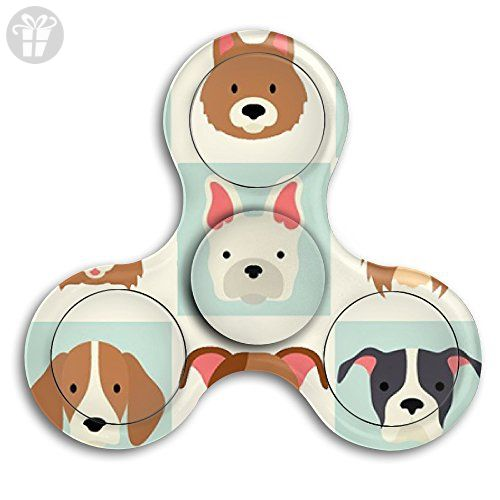 VfIvefi Fidget Tri-Spinner Toys Hand Spinner Cute Dogs Stress Reducer For Helps Focus Stress Anxiety Adult Children - Fidget spinner (*Amazon Partner-Link)
