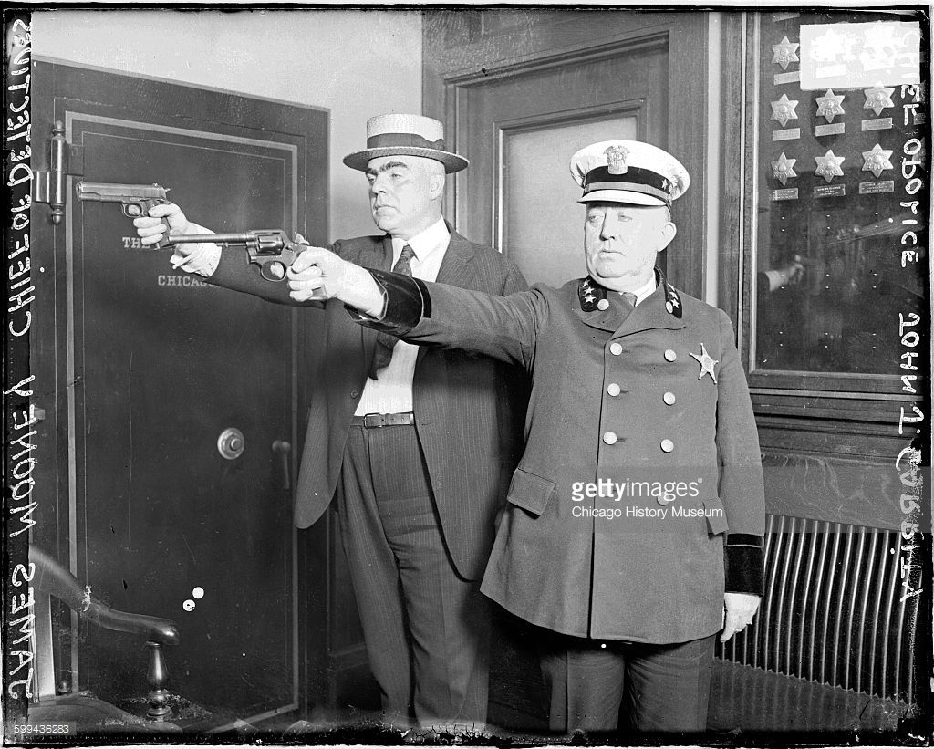 Chief Of Detectives Colonel John J Garrity And Police Captain James Police Chicago History Museum Police Crime