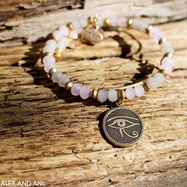 Welcome #October! Enjoy $5 off October #banglesofthemonth in ALEX AND ANI stores and online using code PROTECT at checkout! #ALEXANDANI #withlove #eyeofhorus #bangles #silver #gold #pink