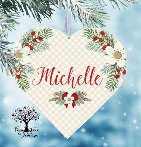 Christmas ornaments Personalized Name ornament Gift tag Unique