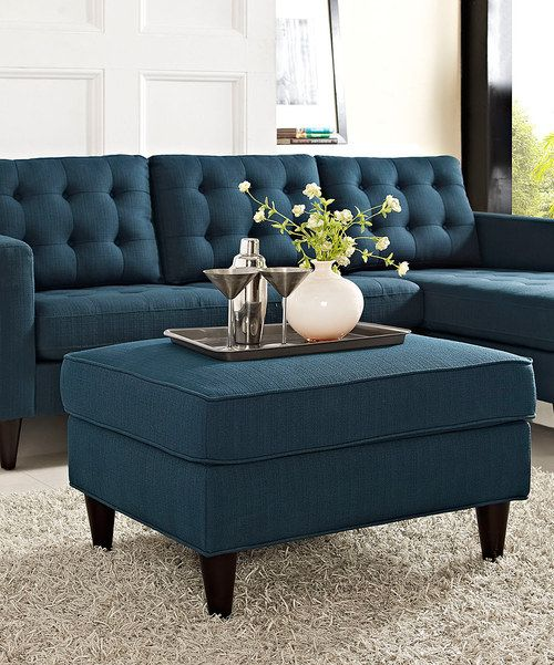 Cute Blue Ottoman With Images Home Decor Furniture Inside Home