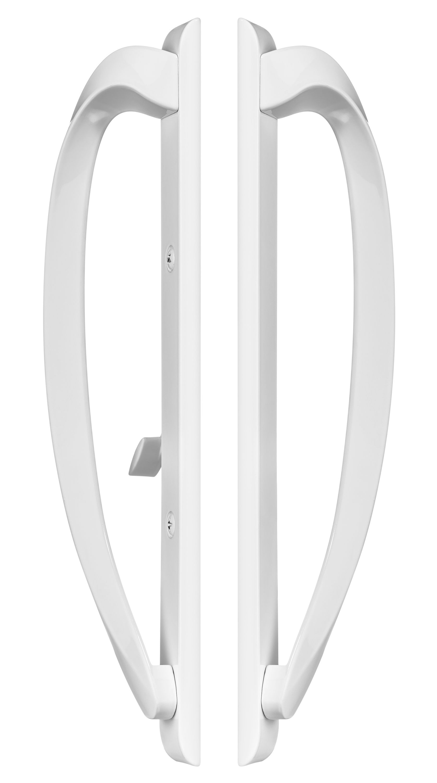 Rockwell Modena Contemporary Sliding Patio Door Handle In White Patio Door Handle Door Handles Sliding Patio Doors