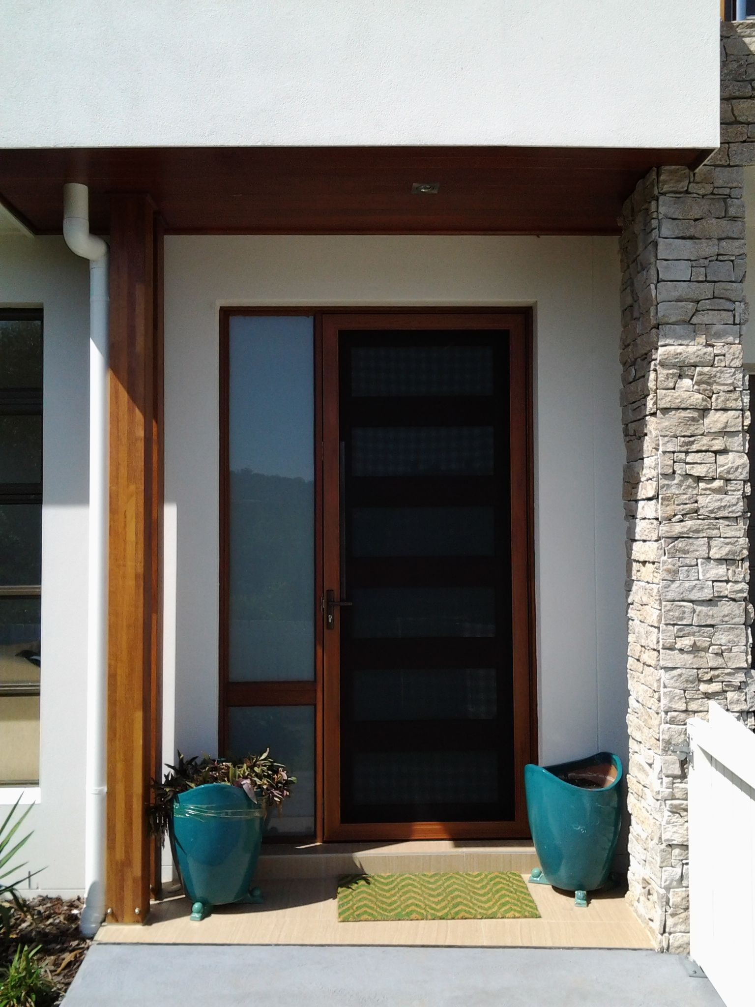 Secureview Hinged Security Screen Door Stainless Steel Mesh Front Entry Door Wood Effect Sp Screens Servicing Sydney And Security Screen Door Front Entry Doors
