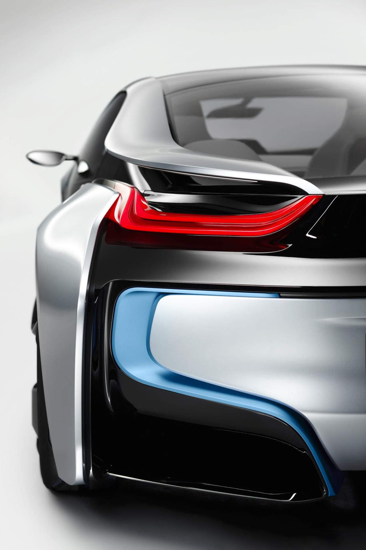 Detail of the converging tight planes 2011 BMW i8 Concept ...