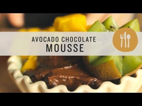 Student Health 101 UCookbook: Sarah prepares dark chocolate avocado mousse. - YouTube