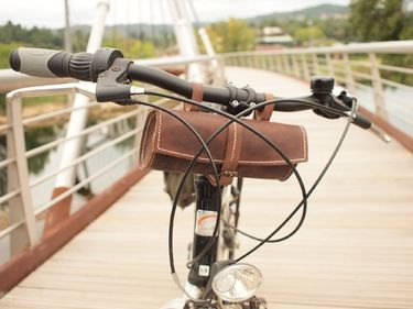 Bicycle leather tool bag