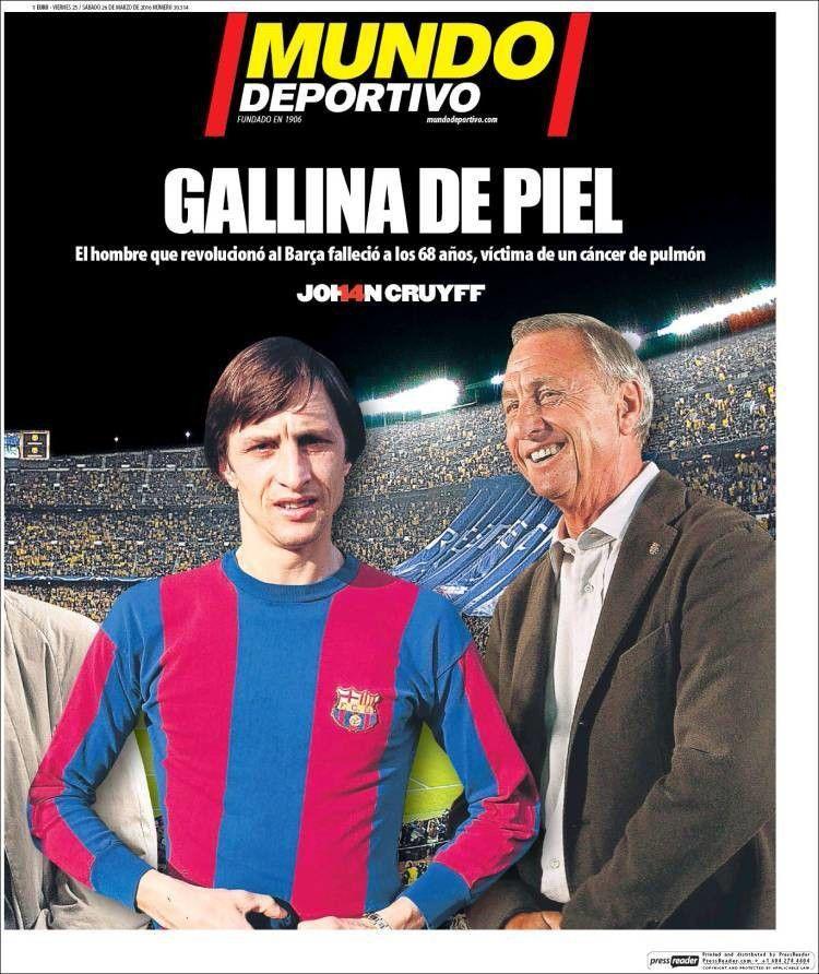 """Xavi Hernández """"Johan Cruyff es eterno y perdurará para"""