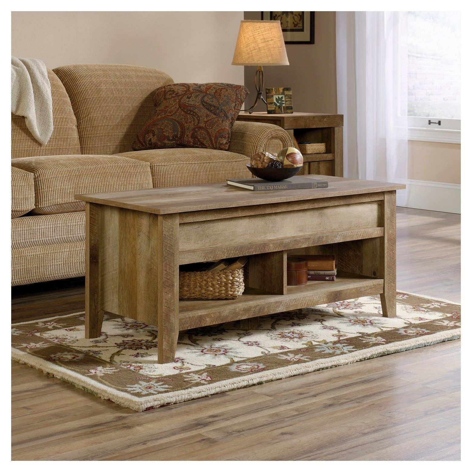 Dakota pass lift top coffee table craftsman oak sauder