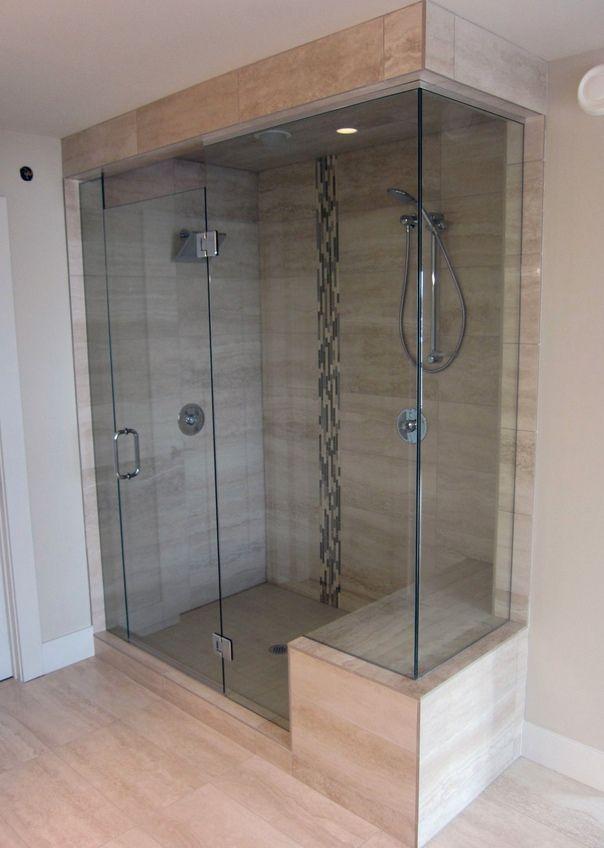 Frameless shower doors, bathroom design | Calgary\'s House of Mirrors ...