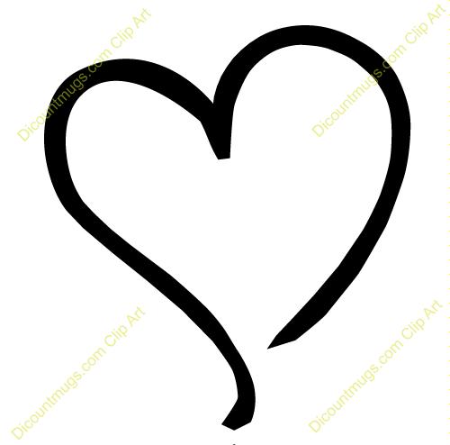 Heart Clipart Heart Tilted To The Left Keywords One Heart Single Heart Sketch Heart Heart Outline Heart Sketch Clip Art