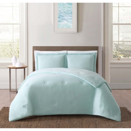 Truly Soft Everyday Solid Jersey Aqua Twin Xl Comforter Set Blue