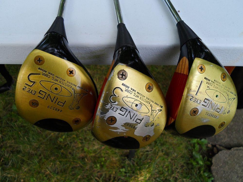 Vintage Ping Eye 2 Fairway Wood Golf Clubs 1 3 5 Woods Golf Golf Clubs Vintage